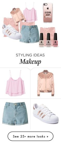 """""""Pink"""" by gabrielaspinu on Polyvore featuring Rothko, MANGO, Miss Selfridge, Yves Saint Laurent, Victoria's Secret, Casetify and adidas"""