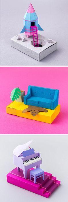 Cut Paper Art by Cheryl Teo // paper craft // cut paper // paper sculpture // 100 day project ideas