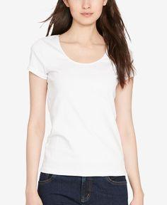 48e36b5594f1e Lauren Ralph Lauren Scoop Neck T-Shirt Roupas