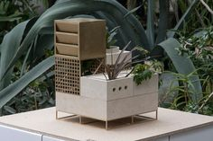 This project is an experiment on the theme of survival of plants not adapted to their life urbanistichnoy environment. It is a polygon with multiple scenarios where the plants may have to find their own way to the light. Modules mimic real urban condition…