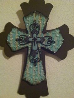 Layered Cross by ThePaperBagPrincess1 on Etsy, $25.00