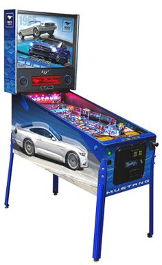 Mustang Limited Edition Pinball Machine From | From Stern Pinball |   Get more information about this game at: http://www.bmigaming.com/games-pinball-new.htm