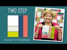 "Make a ""Two Step"" Quilt with Jenny! - YouTube"