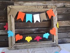 Fall Baby Shower Banner Flags Fall Baby Shower by BlueOakCreations