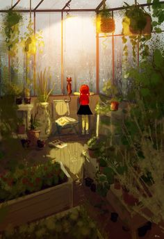 The Art Of Animation, Pascal Campion - the green house, and the cat.