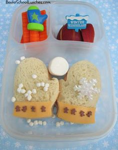 Bento Lunch: Winter Mittens  #EasyLunchboxes