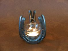 Horseshoe Candle Holder- votive tealight candles, western, cowboy, cowgirl, blacksmith, farrier, office, wedding