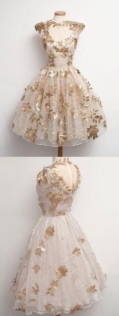 short vintage dress 1950s style, short homecoming dress, 2016 homecoming dress…
