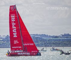 Teams MAPFRE, started the best leg 7 in Auckland. Kite Board, Volvo Ocean Race, Auckland New Zealand, Sail Boats, Dinghy, Yachts, Kayaking, Brazil, Sailing