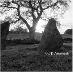 From; Nine Stones close, detail of the setting Sun.