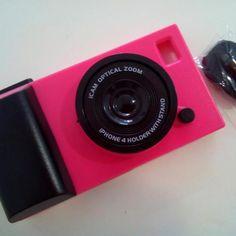 Carcasa divertida con forma de cámara de fotos en color rosa para Iphone 5 Material de plástico rígido