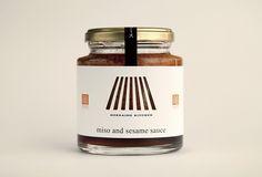 Jar Packaging, Packaging Design, Honey Logo, Pickled Radishes, Sesame Sauce, Japan Design, Wine Label, Candle Jars, Packing