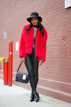 Chrissy Rutherford with a Perrin Paris bag New York Fashion Week  Fall 2015