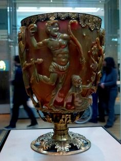 Sutton Hoo Hoard, British Museum, The Lycurgus Cup, Late Roman, AD300s
