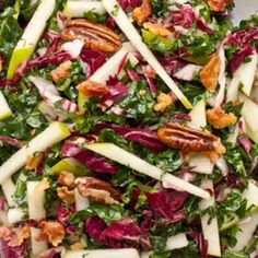 Serious Salads Kale, Apple and Pancetta Salad. Visit www.CouponMom.com for discounts on all the healthy, crunchy ingredients! #CouponMom #Coupon #Yummy #Recipe #Salads #Veggies