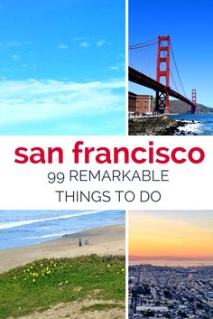 99 AMAZING things to do in San Francisco >> lots of ideas for hiking, eating, and site seeing!