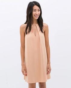 V-NECK DRESS from #Zara