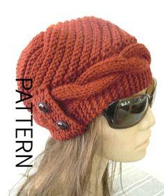 ► ► ESTO ES UN PUNTO PATRÓN ► ► Nota: Esto no es un sombrero terminado, este es sólo el patrón. Este Cable Knit Cloche sombrero le hará captura de los