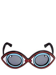 Eye Shape Acetate Sunglasses
