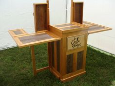 This is amazing... anyone want to fund me? :)  Traveling Show Booth Jewelry Display Cabinet Case. $4,200.00, via Etsy.