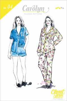 Carolyn Pajama Sewing Pattern by Closet Case Patterns | Cottoneer Fabrics