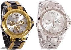 Checkout this latest Chronograph Watches Product Name: *Beautiful Analog Men's Watch ( Pack Of 2)* Strap Material: Stainless Steel Date Display: No Dial Design: Solid Display Type: Analog Power Source: Battery Powered Multipack: 2 Sizes:  Free Size Country of Origin: India Easy Returns Available In Case Of Any Issue   Catalog Rating: ★4.1 (1116)  Catalog Name: Attractive Beautiful Analog Men'S Watches Combo Vol 9 CatalogID_303209 C65-SC1232 Code: 853-2275664-648