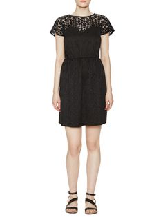 Dot Jacquard & Lace Dress from Anna Sui on Gilt