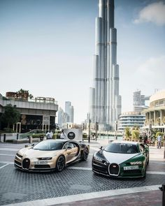 2 Bugatti Chirons