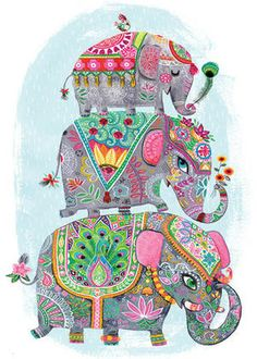 Project: Greeting card Client: Design House Greetings Client: Oopsy Daisy Illustrations: Miriam Bos copyright by Miriam Bos please don't use without permission Image Elephant, Elephant Love, Elephant Design, Indian Elephant Art, Baby Elephants, Elephant Illustration, Cute Illustration, Zantangle Art, Indian Art Paintings