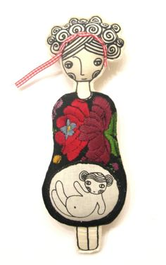 Embroidered Doll