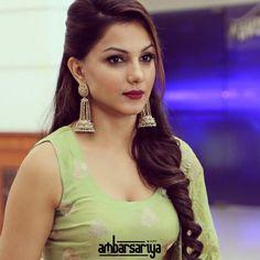 Monica Gill special - Punjabi Movie Talks Movie Talk, Green Suit, Desi, Drop Earrings, Pakistan, Fashion, Moda, La Mode, Fasion