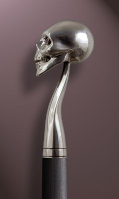Handmade Walking Cane / Handmade Walking Stick: SKULL by Boris Palatnik 144SA