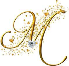 View all images at Alfabeto dourado folder Creative Lettering, Lettering Design, M Letter Design, Fancy Letters, Alphabet And Numbers, Letter Art, M Letter Images, Alphabet Art, Illuminated Letters
