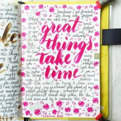 journal page idea... great things take time