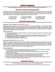 Bookkeeper Resume Example Will Give Ideas And Provide As References Your  Own Resume. There Are So Many Kinds Inside The Web Of Resume Example For  Bookkeeper