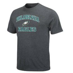 NFL Men's Philadelphia Eagles Heart And Soul Ii Adult Short Sleeve Basic Tee by Majestic. $15.99