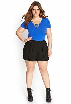 Woven Tulip Shorts | FOREVER21 PLUS - 2000068844