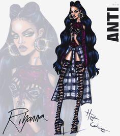 Hayden Williams Fashion Illustrations | Rihanna ANTI collection by Hayden Williams: Look 2