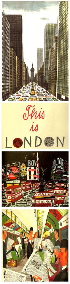 "Miroslav Sasek's ""This is London,"" 1959.  http://www.miroslavsasek.com/books/thisis/london.html"
