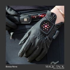 MagicTack belt and riding gloves. Perfect equestrian outfit by MagicTack Equestrian Outfits, Equestrian Style, Nova, Swarovski, European Fashion, Outfit Of The Day, English Horses, Fashion Accessories, Gloves