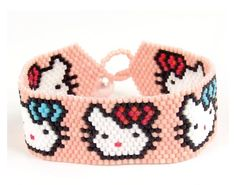 Hello Kitty Peyote Stitch Cuff