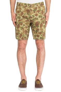 Penfield Kingman 5 Pocket Cut Off Short in Duck Camo