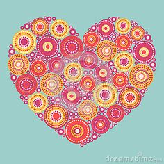 Bright abstract heart