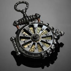 I would totally rock this steampunk watch.... Along with my light sabre, and Star Trek phaser lol