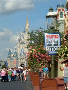 Posted throughtout Magic Kingdom park on opening day of Stitchs Great Escape Disney And More, Disney Love, Walt Disney World, Disney Pixar, Disney Magic Kingdom, Disney Facts, Disney Addict, Lilo And Stitch, Vintage Disney