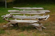 Driftwood Bench - this would add such whimsy to any garden. I'd end up growing wildflowers all around the base or putting a flower pot with wildflowers on the bench.