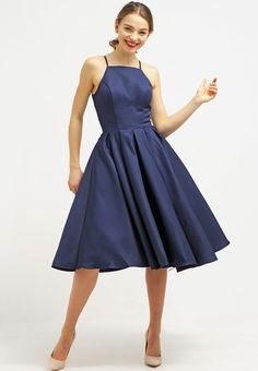 Chi Chi London CASSANDRA - Cocktail dress / Party dress - navy Women Cocktail Dresses,chi chi london dresses asos,Best Discount Price