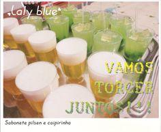 sabonetes pilsen e caipirinha mix de aromas. á venda no site. www.facebook.com/lalybluelembrancascriativas