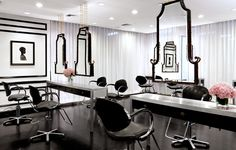 Gorgeous Salon Glam  Black & White & Hot All Over.
