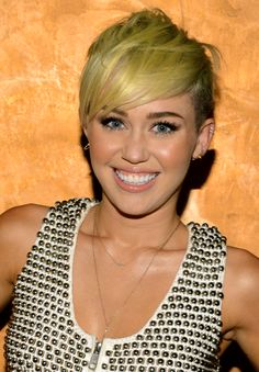 Miley Cyrus. Her hair actually doesn't look that bad when it's like this.